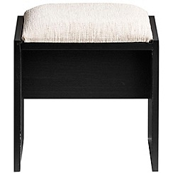 Debenhams - Black 'Hazel' stool