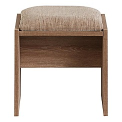 Debenhams - Dark oak effect 'Hazel' stool