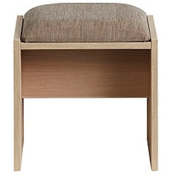 Debenhams - Light oak effect 'Hazel' stool