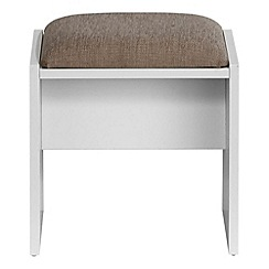 Debenhams - White 'Hazel' stool