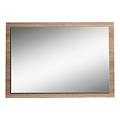 Debenhams - Dark oak effect 'Hazel' wall mirror