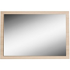 Debenhams - Light oak effect 'Hazel' wall mirror