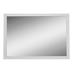 Debenhams - White 'Hazel' wall mirror