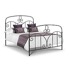 Debenhams - Black 'Sicily' bed frame with 'Premier' mattress