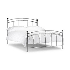 Julian Bowen - Steel 'Pilsley' bed frame with 'Premier' mattress