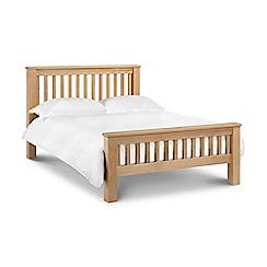 Debenhams - Oak 'Newbury' bed frame with 'Deluxe' mattress