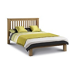 Debenhams - Oak 'Newbury' bed frame with 'Deluxe' mattress