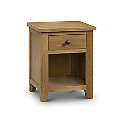 Julian Bowen - Oak 'Newbury' bedside cabinet with single drawer