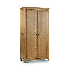 Julian Bowen - Oak 'Newbury' double wardrobe