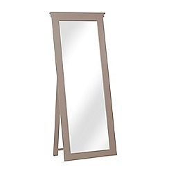 Corndell - Dark grey 'Oxford' cheval mirror