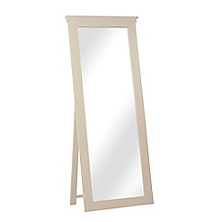 Corndell - Taupe 'Oxford' cheval mirror