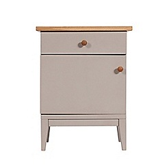 J by Jasper Conran - Oak and grey painted 'Farringdon' left-hand facing bedside cabinet