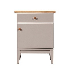 J by Jasper Conran - Oak and grey painted 'Farringdon' right-hand facing bedside cabinet