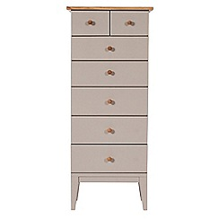 J by Jasper Conran - Oak and grey painted 'Farringdon' tall 7 drawer chest