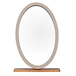 J by Jasper Conran - Oak and grey painted 'Farringdon' pedestal mirror