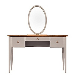 J by Jasper Conran - Oak and grey painted 'Farringdon' dressing table with mirror