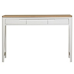 Debenhams - Oak and painted 'Nord' dressing table