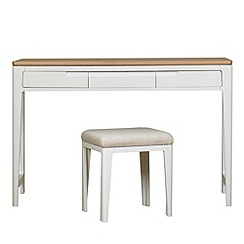 Debenhams - Oak and painted 'Nord' dressing table with stool