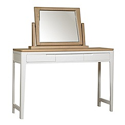 Debenhams - Oak and painted 'Nord' dressing table with mirror