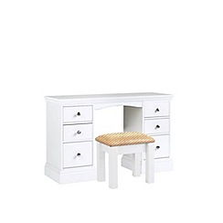 Debenhams - White 'Oxford' dressing table with stool