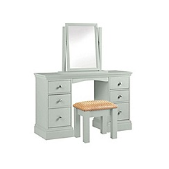 Debenhams - Pale blue 'Oxford' dressing table with mirror and stool