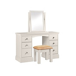 Debenhams - Grey 'Oxford' dressing table with mirror and stool