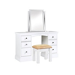 Debenhams - White 'Oxford' dressing table with mirror and stool
