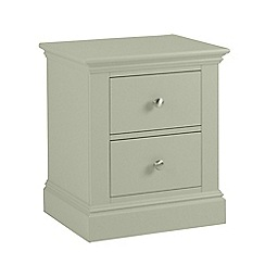 Debenhams - Pale green 'Oxford' bedside cabinet with 2 drawers