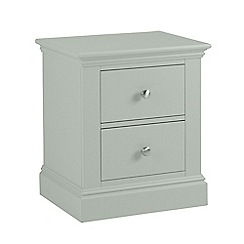 Debenhams - Pale blue 'Oxford' bedside cabinet with 2 drawers