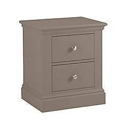 Debenhams - Dark grey 'Oxford' bedside cabinet with 2 drawers