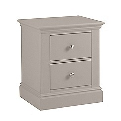 Debenhams - Taupe 'Oxford' bedside cabinet with 2 drawers