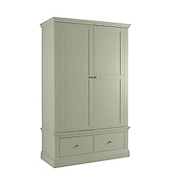 Debenhams - Pale green 'Oxford' double wardrobe with drawers