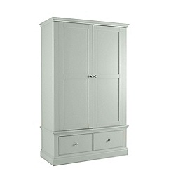Debenhams - Pale blue 'Oxford' double wardrobe with drawers
