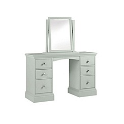 Debenhams - Pale blue 'Oxford' dressing table with mirror