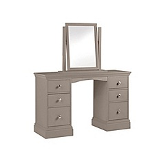 Debenhams - Dark grey 'Oxford' dressing table with mirror