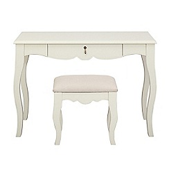 Debenhams - Ivory 'Fleur' dressing table with stool