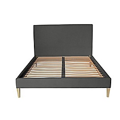 J by Jasper Conran - Dark Grey upholstered 'Farringdon' bed frame
