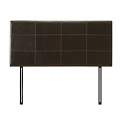 Debenhams - Dark brown upholstered 'Pheonix' headboard