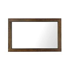 Debenhams - Walnut finished 'Lyon' wall mirror