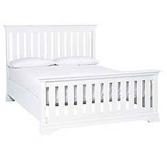 Debenhams - White 'Oxford Imperial' king size bed frame