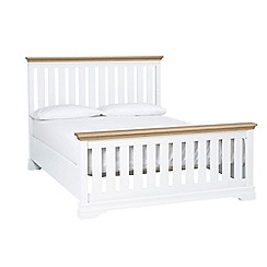 Debenhams - Oak and white 'Oxford Imperial' bed frame