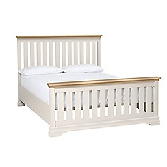 Debenhams - Oak and grey 'Oxford Imperial' bed frame