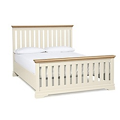 Debenhams - Oak and cream 'Oxford Imperial' king size bed frame