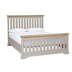 Debenhams - Oak and taupe 'Oxford Imperial' bed frame