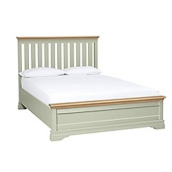Debenhams - Oak and pale green 'Oxford Imperial' bed frame