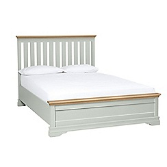 Debenhams - Oak and pale blue 'Oxford Imperial' bed frame