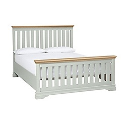 Debenhams - Oak and pale blue 'Oxford Imperial' king size bed frame