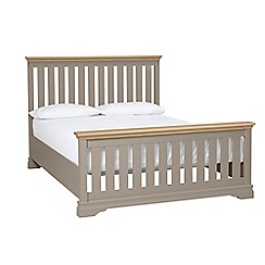 Debenhams - Oak and dark grey 'Oxford Imperial' bed frame
