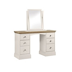 Debenhams - Oak and grey 'Oxford' dressing table with mirror