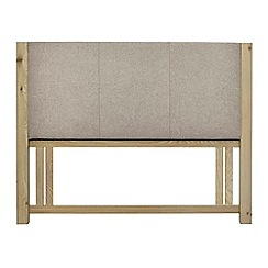 Debenhams - Oak 'Turin' grey upholstered headboard